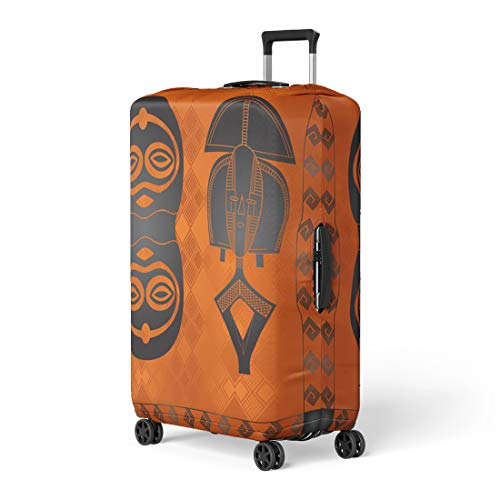 (Semtomn Luggage Cover Abstract African Culture Symbolic Ornaments Tribes Africa Aztec Boho Travel Suitcase Cover Protector Baggage Case Fits 18-22)