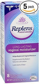 Replens Long-Lasting Vaginal Moisturizer - 8 ct, Pack of 5 by Replens