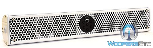 Wet Sounds Stealth-6 Ultra Amplified Marine/ATV/Golf Car Sound Bar Speaker with Bluetooth White