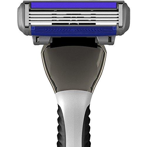 Premium Razors (12pk + Handle) 4-Blade Shave Kit by SWIPE (Shave Razor Dollar)