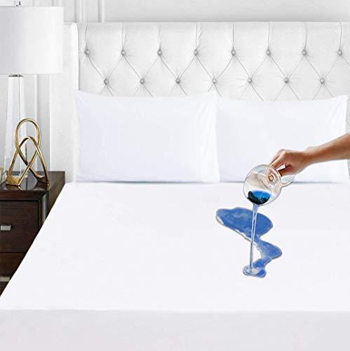 Mattress Protector Queen Size Waterproof Mattress Pad Premium Hypoallergenic Breathable Cotton