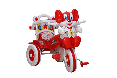 Amardeep and Co Baby Tricycle Red 86*64*33 cms 1 3 yrs   1523MZ_red