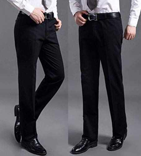 Freizeithose Travail Tuyau De Lang Pantalon Anzughose Casual Essentiel Emmay Blau Formelle Herren Schwarz Einfarbig Baumwolle Businesshose 0vnw8Cq