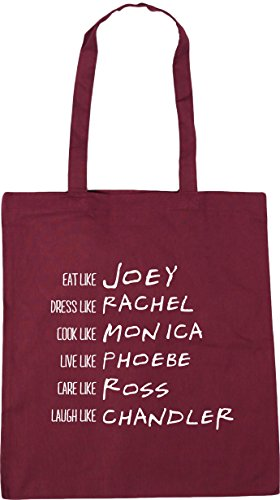 Shopping Bag 10 like Be x38cm Beach Tote Gym Phoebe Rachel Chandler 42cm HippoWarehouse Burgundy litres Ross Joey Monica qB54zxnZC