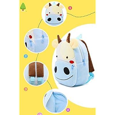 Kids Animal Backpack Toddler Cute Plush Mini Travel Bag Sweet Gift for Baby Boy Girl 1-6 Years (Cow)   Kids' Backpacks