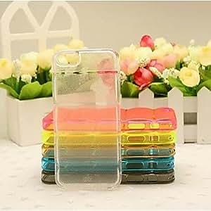 GDW rayas horizontales del tpu color puro después de la cáscara del teléfono celular de cinco para el iphone 6 (colores surtidos) , Golden