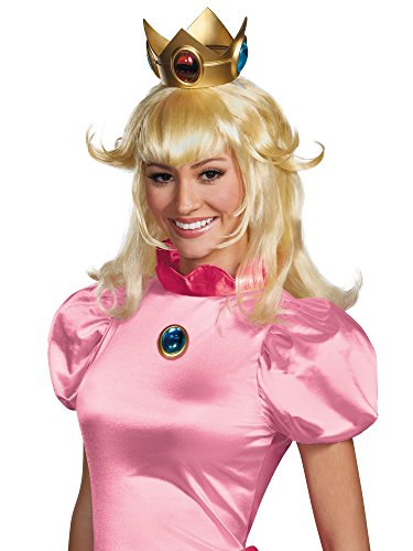 Disguise Women's Nintendo Super Mario Bros.Princess Peach Adult Costume Wig, Blonde, One Size