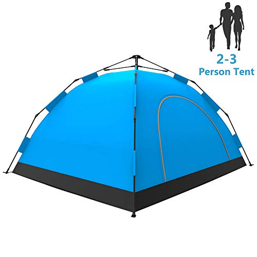 LETHMIK Camping Tent, Automatic Portable Pop-Up Tent, 2-3person, 30 Seconds Easy Set up, Waterproof Lightweight Tent for Camping Outdoor Hiking with Travel Climbing with Carry Bag