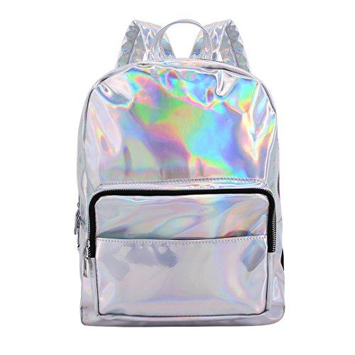 Shiny Bag Candice Shoulder Large Transparent Satchel Bag Women School Backpack Holographic Hologram SSqrvxH