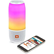 JBL Pulse 3 Wireless Bluetooth IPX7 Waterproof Speaker (White) (Renewed)