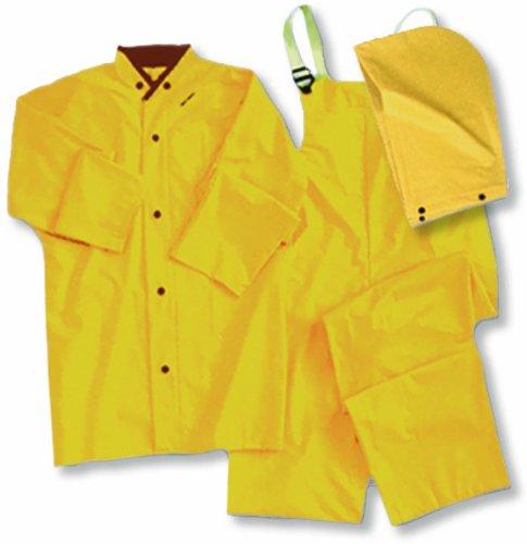 ERB 14356 4035 3 Piece Rainsuit, Yellow, (2 Piece Yellow Raincoat)
