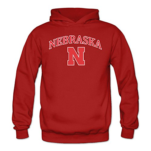 Women's Nebraska Cornhuskers Sports Blank Hooded Sweatshirt X-Large Red