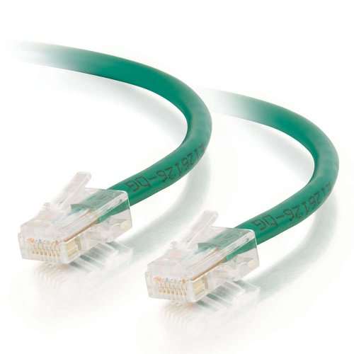 C2G/Cables to Go 24507 Cat5e Non-Booted Unshielded (UTP) Network Crossover Patch Cable, Green (7 Feet/2.13 Meters) -