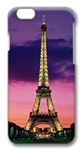 Eiffel Tower At Night Paris France Polycarbonate Hard Case Cover for iPhone 6 3D
