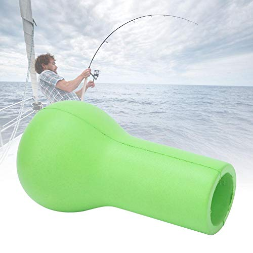 Alomejor Fishing Rod Holder EVA Fishing Fighting Belt Rod Butt Caushion Fishing Pole Holder Cap for Boat Fishing