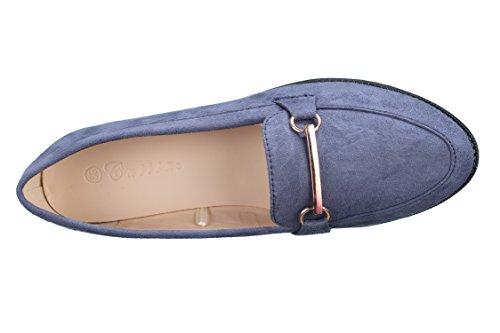 Catisa Mocassin Femme Xh996 Bleu - Taille 39 - Couleur Bleu