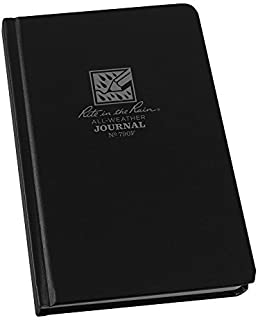"""product image for Rite in the Rain Weatherproof Hard Cover Notebook, 4 3/4"""" x 7 1/2"""", Black Cover, Journal Pattern (No. 790F)"""