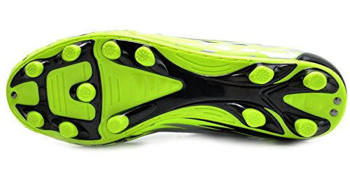 TRAUM-PAARE 151028-151030 Sport-flexibler athletischer freier Laufender Leichtgewichtler der Männer Innen- / im Freien schnüren sich herauf Fußball-Schuhe 151027-m-l.grün-schwarz-silber