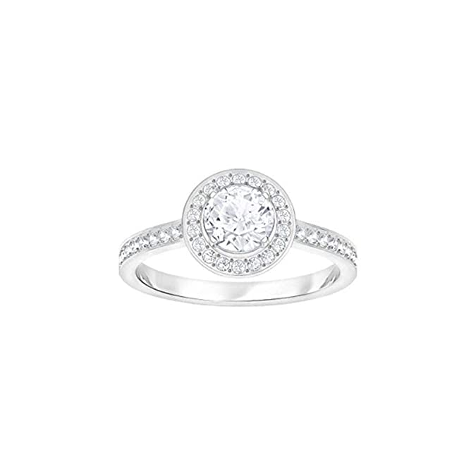 48bddb0e2 Swarovski Attract Light Round Cubic Zirkonia White Ring 5368545 (Maat 55):  Amazon.co.uk: Jewellery