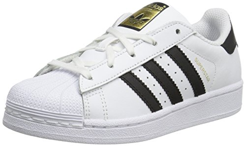- adidas Originals Superstar C Basketball Shoe (Little Kid),White/Black/White,10.5 M US Little Kid