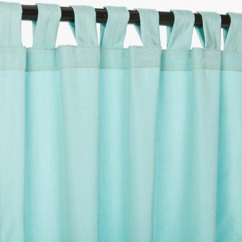 Sunbrella Outdoor Canvas Curtain with Tab Top