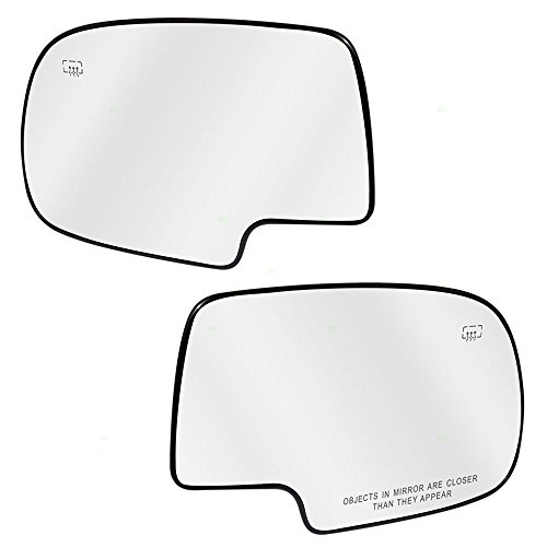 Driver and Passenger Power Side View Mirrors Glass & Bases Heated for Chevrolet Cadillac GMC Pickup Truck SUV 88986362 88986363 ()