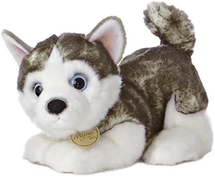 Aurora Siberian Husky Puppy Miyoni Tots Plush Stuffed Animal 10