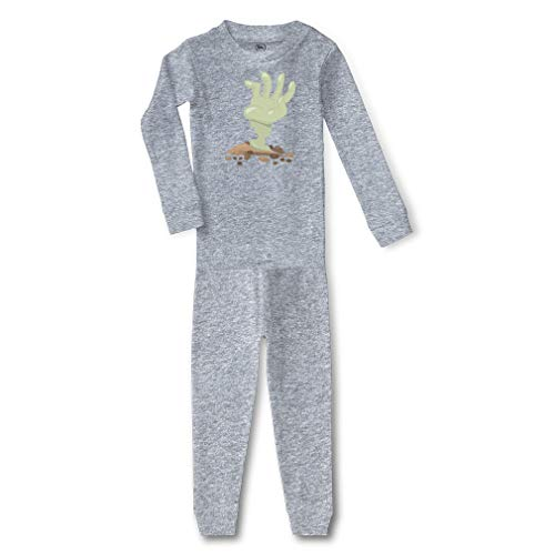 Zombie Hand Cotton Crewneck Boys-Girls Infant Long Sleeve Sleepwear Pajama 2 Pcs Set Top and Pant - Oxford Gray, 5/6T ()