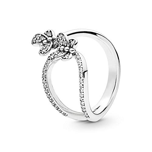 - PANDORA Bedazzling Butterflies 925 Sterling Silver Ring, Size: EUR-56, US-7.5-197920CZ-56