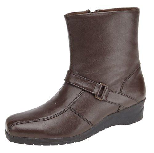 Brown 6 39 Aux EU UK Coin Comfy Mod femmes Boot Strap xFYn0fzqaw