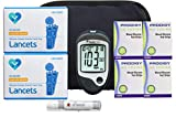 Prodigy Diabetes Testing Kit | Prodigy Talking Blood Glucose Meter, 200 Prodigy Blood Glucose Test Strips, 200 Lancets, Lancing Device, Control Solution, Log Book, User Manuals & Carry Case