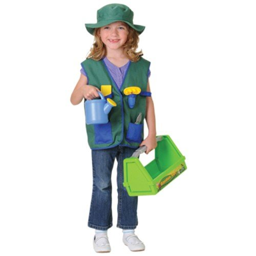 Career Dress Up Outfit  Gardener Vest  Hat And Tote With Accessories For Pretend Play