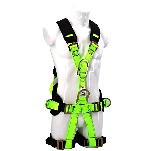 (DaQingYuntur Fluorescent Full Body Harness, Five-Point Aerial Work Fall Protection, Rock Climbing Safety Kit, Ruggedized End Always Protects Your Safety )