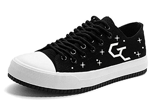 Bromeo Guilty Crown Unisexe Toile Low-Top Sneaker Baskets Mode Chaussures Lumineux