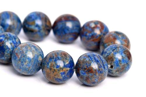 (10mm Natural Blue Crazy Lace Agate Beads Grade Round Loose Beads 7.5'' Crafting Key Chain Bracelet Necklace Jewelry Accessories)