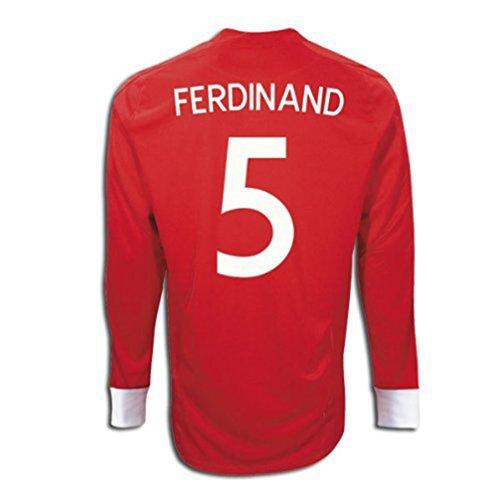 スピン浸食ためにUmbro FERDINAND #5 England Away Jersey Long Sleeve/サッカーユニフォーム イギリス アウェイ用 長袖 背番号5 ファーディナンド