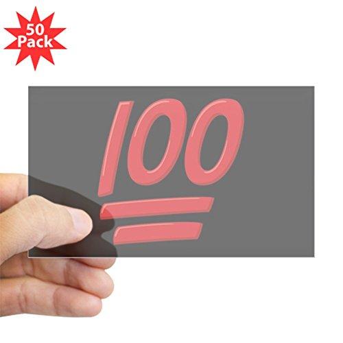 CafePress - 100 Emoji - Sticker (Rectangle 50 pk) by CafePress