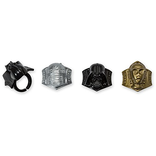 DecoPac Star Wars Darth Vader, R2-D2, C-3PO Cupcake Rings (24 Count)