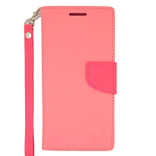 Eagle Cell Flip Wallet PU Leather Protective Case for HTC Desire Eye - Retail Packaging - Hot Pink/Pink (Case Eye Wallet Htc Desire)