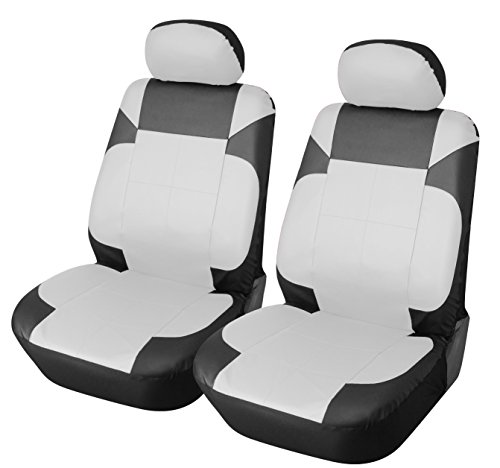 green and white car seat covers - 1