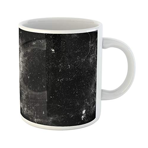 Semtomn Funny Coffee Mug Scratch Scary Dark Scratched Old Halloween Black White Dirt 11 Oz Ceramic Coffee Mugs Tea Cup Best Gift Or Souvenir]()