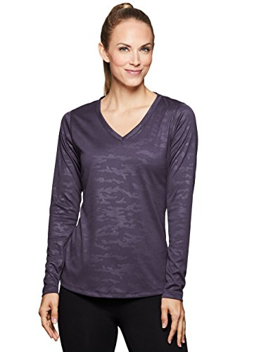 RBX Active Women's Camo Yoga Gym Workout T-Shirt Gym Purple XL