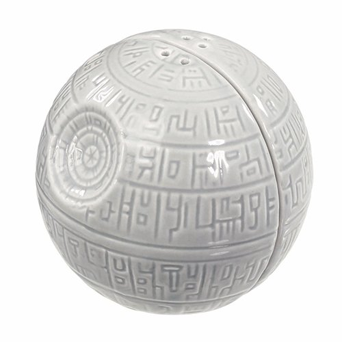 epper Shakers – Death Star Ceramic Pots for Salt and Pepper Seasoning – Add a Shake of the Dark Side to Every Meal – Side by Side Stackable, A Must-Have Novelty Gift for Superfans ()