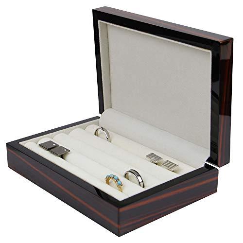 Executive High class Cufflink Case & Ring Storage Organizer Men's Jewelry Box Gift (Midnight)