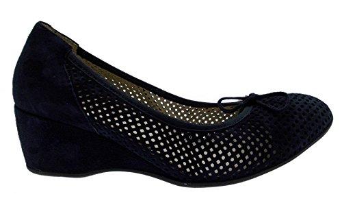 Bleu de Chaussures Coin Art G051 MELLUSO Cour de Daim Tunnels FtdTxf