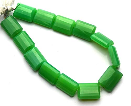 GemAbyss Beads Gemstone 1 Strand Natural Chalcedony 14x18MM Approx. Facet Nugget Shape Beads 9.5 Inch Code-MVG-11737