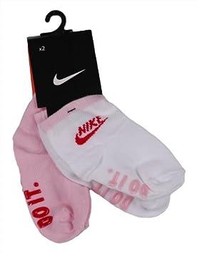 Nike 2P LTL Kids Anti Slip - Calcetines para niños, color blanco/rosa,