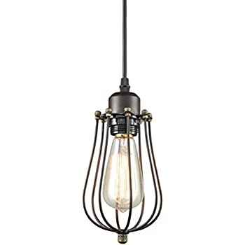 caged lighting. yobo lighting industrial edison hanging lamps oil rubbed bronze wire caged 1light mini pendant n