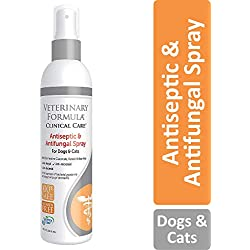 Veterinary Formula Clinical Care Antiseptic and Antifungal Spray for Dogs and Cats - Medicated Topical Spray Treatment for Fungal and Bacterial Skin Infections in Dogs and Cats, Fast Acting, Heal and Soothe Infections (8 oz bottle)