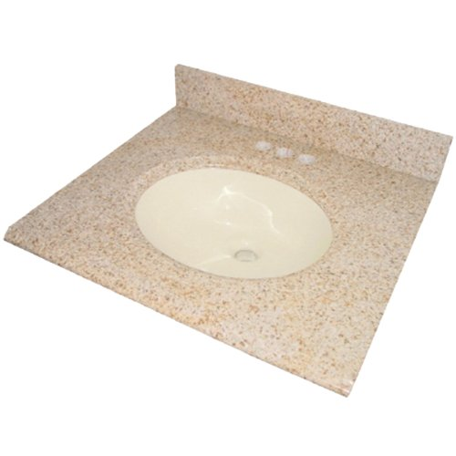 Pegasus PE68225 25-Inch Granite Vanity Top with Biscuit Bowl and 8-Inch Spread, ()
